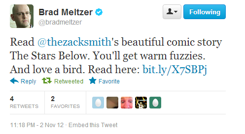 Twitter   bradmeltzer  Read @thezacksmith's beautiful ...-033955