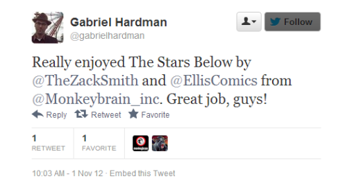 Twitter   gabrielhardman  Really enjoyed The Stars Below ...-034138